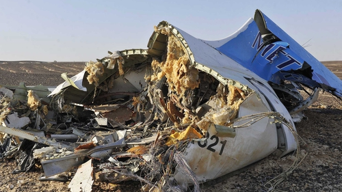 The Russian passenger plane crashed on 31 October