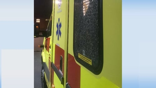 Dublin Fire Brigade tweeted a picture of an ambulance attacked in north Dublin