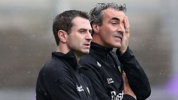 Rory Gallagher (L) and Jim McGuinness in 2013