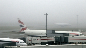 Visibility at the airports in London is about 100 metres (File pic)