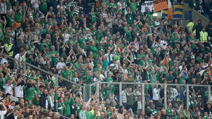 Ireland supporters in Gelsenkirchen for the Germany clash last October