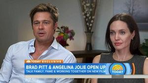 Brad and Angelina during their emotional interview on US television