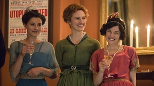 Charlie Murphy (left), Ruth Bradley and Sarah Greene in Rebellion