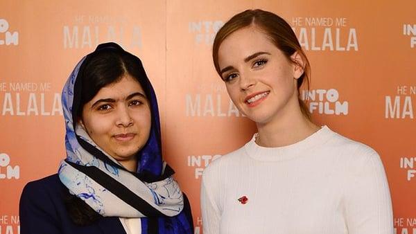 Malala Yousafzai and Emma Watson   Image: Twitter.com/EmWatson