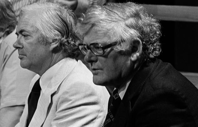 Breandán Breathnach with broadcaster Ciarán MacMathúna (1978)