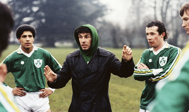 John Giles at Ireland Training Session (1980)