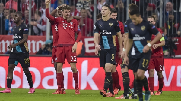 Arsenal were hammered 5-1 by Bayern Munich during the week