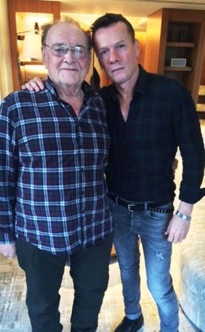 Larry Gogan and U2's Larry Mullen in 2006