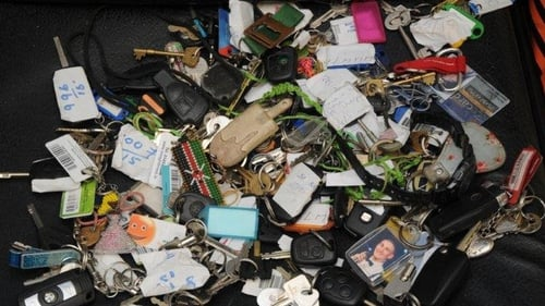 Some of the keys lost at Electric Picnic this year