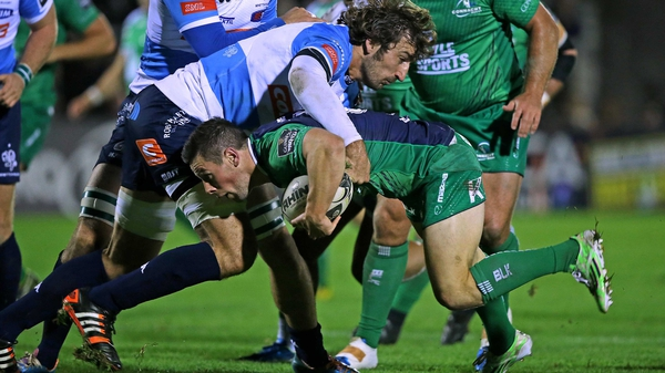 Connacht's John Cooney with Montauriol Jean-Francois of Benetton Treviso