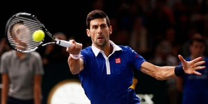Djokovic fires another winner on his way to victory in France