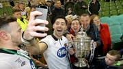 Richie Towell celebrates after winning the FAI Cup with Dundalk