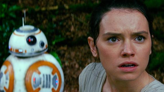 Daisy Ridley plays Rey