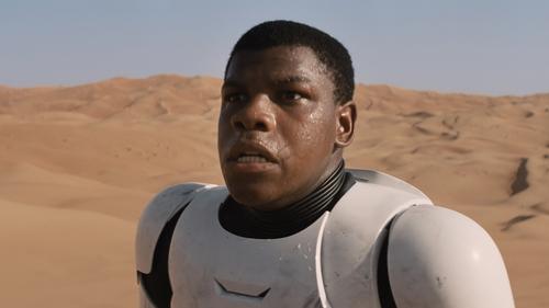 John Boyega as Finn in 2015's Star Wars: The Force Awakens