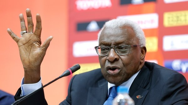 Lamine Diack is accused of being complicit in a cover-up of doping by Russian athletes