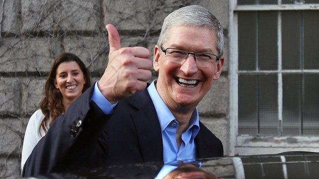 The news came during a visit by the Apple Chief Executive Tim Cook to Dublin today