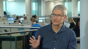 Tim Cook is due to open an extension to the Apple facility in Cork tomorrow
