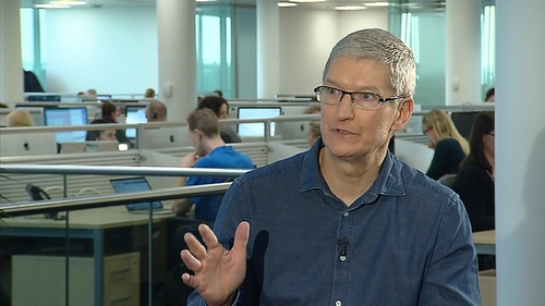 Tim Cook said Apple has no intention of moving from Ireland in the future