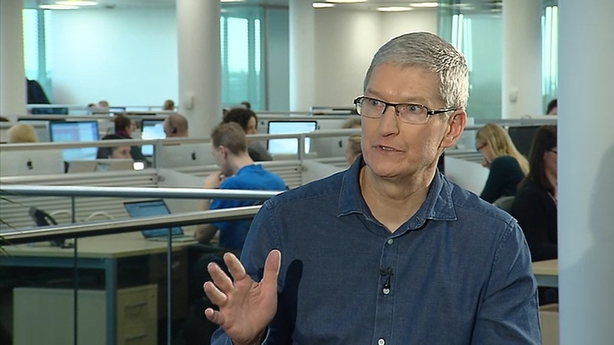 Tim Cook pictured during a recent visit to Ireland