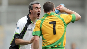 Jim McGuinness and Kevin Cassidy pictured during the 2011 All-Ireland quarter-final