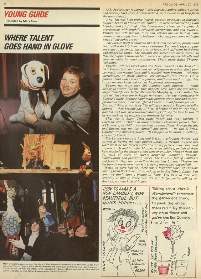 RTÉ Guide 27 April 1979, p7 - Lambert Puppet Theatre