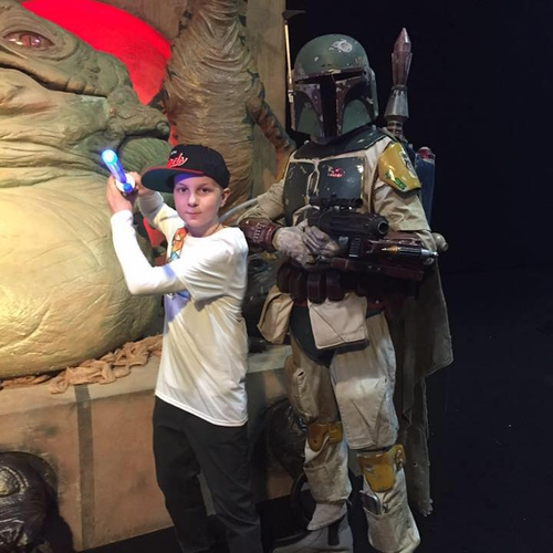 Matthew as Boba Fett with Dylan at Invasion 2015