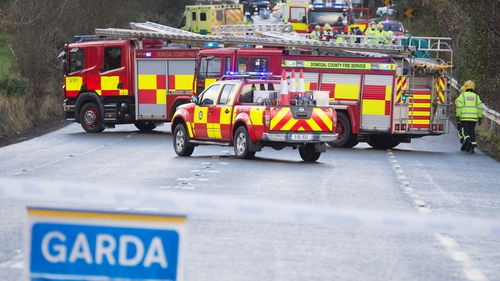 The area was sealed off by gardaí and will remain closed overnight