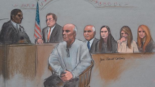 Court artist sketch of David Drumm
