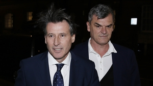 Sebastian Coe arrives at the IAAF's offices ahead of Friday night's marathon emergency meeting