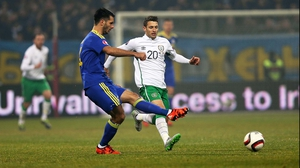 Wes Hoolahan struggled to make an impact for Ireland in the opening leg