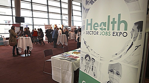 Both public and private hospitals were recruiting today
