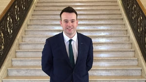 Colum Eastwood, 32, was elected leader of the SDLP today