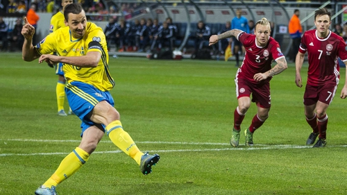 Zlatan Ibrahimovic slams home from the spot for Sweden
