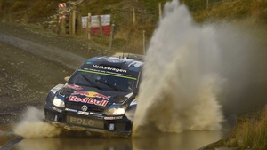 Sebastien Ogier in action in Wales