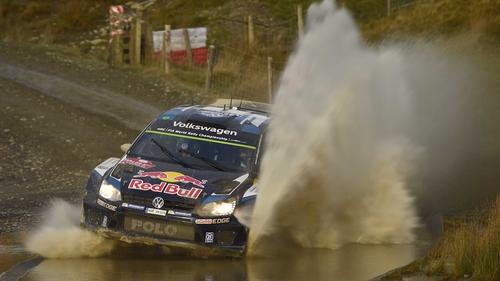 Sebastien Ogier in action in Wales