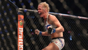 Holly Holm reacts to her stunning triumph