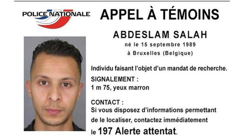 French police are looking for 26-year-old Abdeslam Salah