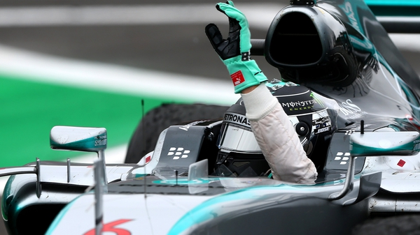 Nico Rosberg has finished second to Lewis Hamilton in the world championship after his victory in Brazil