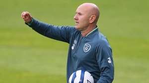 Paul Doolin during his spell as Under-19 manager