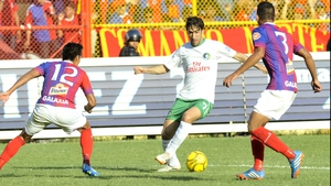 Raul in action for the New York Cosmos