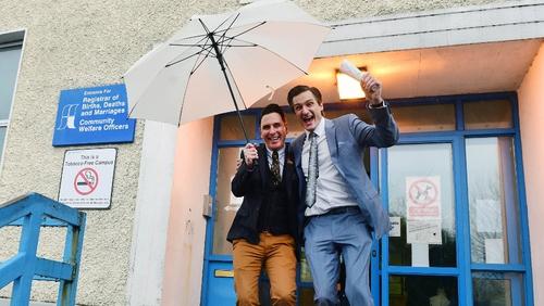 Richard Dowling (L) and Cormac Gollogly got married in Clonmel