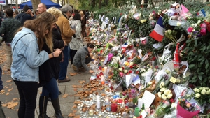 Floral tributes outside the Bataclan music venue which was among the places attacked by terrorists in 2015