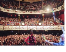 Eagles of Death Metal's Jesse Hughes looking at the crowd in Dublin's Olympia Theatre