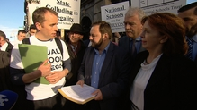 A petition was handed to the Chair of the Petitions Committee