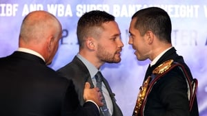 Frampton (l) and Quigg will finally meet in a world-title eliminator in February
