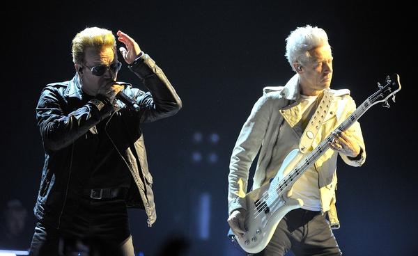 U2 in action in November in Belfast