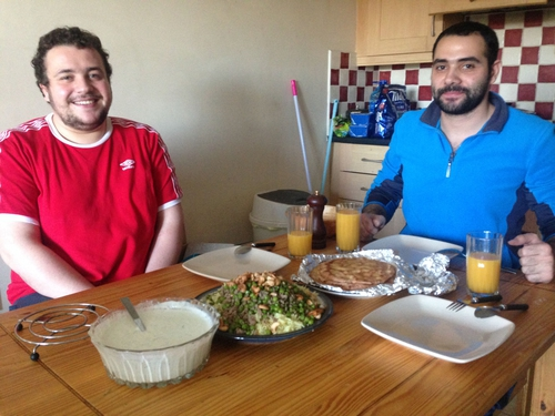 Ammar and Anas in their apartment in Galway