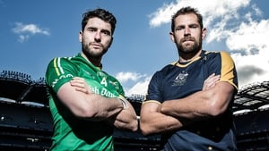 Ireland captain Bernard Brogan and opposite number Luke Hodge
