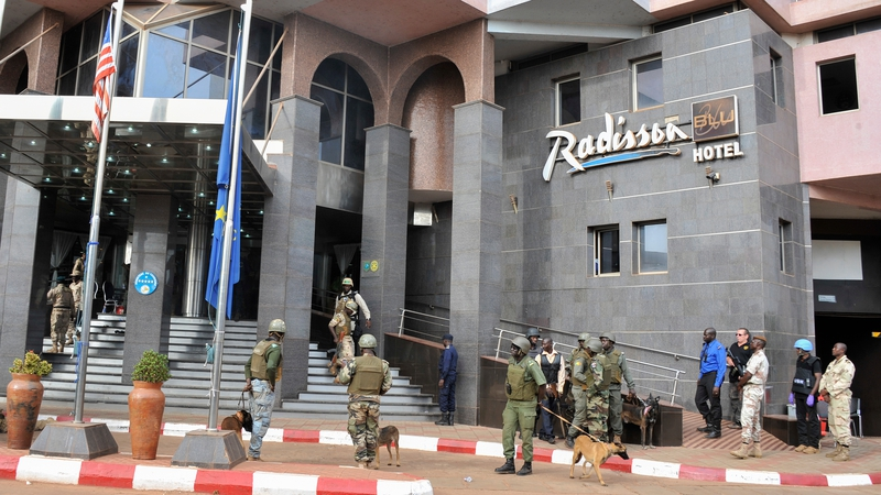 Security Forces Surrounding The Radisson Hotel In Bamoko During Hostage Situation