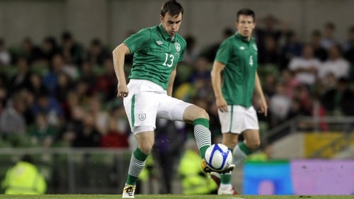 Keith Treacy in action for Ireland